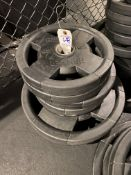 {LOT} Set of Hammer Strength Rubber Coated Weight Plates (280 Lbs. Total) c/o: (4) 45 Lb. Plates, (
