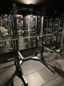 Hammer Strength Squat Rack #HDLSTOR-SA w/#HDLHRL 16 Setting w/Bar, Weight Rack, Pull Up Bars
