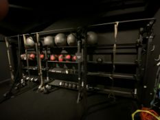 """(3) Section Hammer Strength #HDT-PSF w/(4) TRX Bands & (2) Battle Ropes Each Section is 6'W x 94""""H x"""