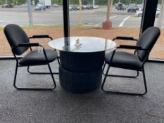 """Racing Tire Dining Set 36"""" Round Top w/ 2 Chairs"""