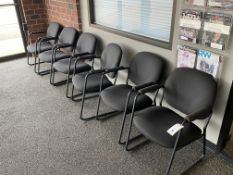 (6) UPH Seat & Back Metal Framed Chairs