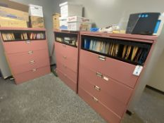 (3) 5 Drawer Lateral File Cabinets