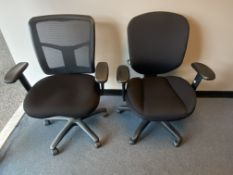(2) Swivel Arm Chairs Assorted
