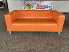 Orange UPH Couch 6ft