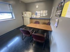 Lot In Breakroom. Fridge/Table/Chair