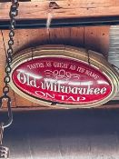 "Illuminated Old Milwaukee Vintage Beer Sign - Approx. 32"""
