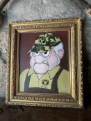 Wood Framed Cartoon Character Painting By R. Anznone 2019