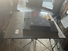 """48"""" x 48"""" Metal Base Collapsible Riser Stage w/Felt Top"""