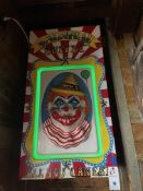 """Illuminated Multi Color Carnival Buffet Clown """"All You Can Eat"""" 24""""W x 46""""H"""