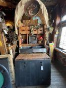 "Custom Vintage Buffet Wagon Approx. 54""W x 9' 4""H x 72""D w/Warming Pans, Faux Décor, Etc."