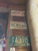 (3) Asst. License Plates - Vermont, Florida & Maine