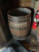 "Wood Cask Barrel 22""W x 36""H ""PEANUTS"""
