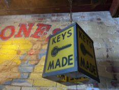 """10"""" x 8"""" Keys Made Hanging Pendant - Curtis Industries (Not Wired)"""