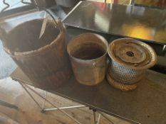 Vintage Galvanized & Wood Pails