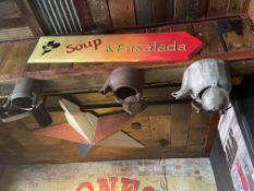 """Wood Soup & Ensalada 39""""W x 9""""H -"""