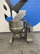 Groen # DHT 60 Jacketed Tilting SS 60 Gallon Kettle w/ Gas Generator & Stand