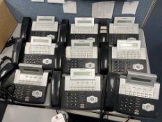 (Lot) Samsung Office Serv Phone System w/ (9) Handsets