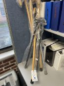 (Lot) Wood and Metal Walking Canes