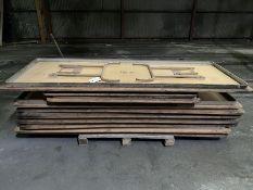(11)Asst. wood Top Folding Tables