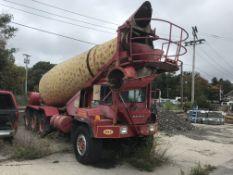 Mack 12' CU Yard Cement Mixer Truck, GVWR Rear 20,000 lb., Odom: 198037, 17572 Hrs. V/N:
