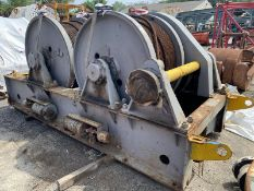 Clyde Iron Works 25,000 Lb. Double Drum Winch CLYDE 7 FRAME 40K LINE PULL, S/N: 24889-A