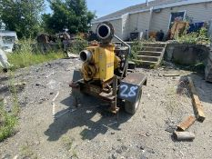 "Wacker Neuson Towable 6"" #PT6LT Pump w/Lombardini #IILD625-3, 3 Cylinder Diesel Motor & Pintle"