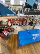 (Lot) Pedals, Cork Ribbon, Etc. on Hooks