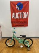 """Raleigh Jazzie 16"""" Girls Bike w/ Training Wheels $190 Retail"""