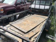 2017 Carry On 10' x 5.5' Open Wood Deck Single Axle Trailer w/Rear Ramp BILL OF SALE ONLY - No Title