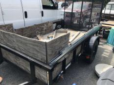 2020 Carry On 10' x 5.5' Open Wood Deck Single Axle Trailer w/Rear Ramp, BILL OF SALE ONLY NO TITLE