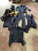 Arc Flash Gear C/O: (2) Gloves, Helmet,(2) Pants,(2) Jackets, and (1) Shirt , Color Navy and Size