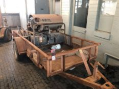 Lot Comprising of R&D Trailer, w/ Karcher Steam Cleaner Power Washer, s/n 15750010-16219, w/ (2)