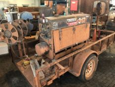 Lot Comprising of R&D Trailer, w/ Lincoln Classic 300D Welding Power Source Generator, s/n