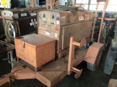 Lot Comprising of Unknown Make Trailer, w/ Lincoln Shield-ARC SA-250 Welding Power Source Generator,