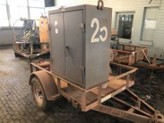 Lot Comprising of Maxey Trailer, w/ Tool Cabinet, w/ Hose Reel, No Title (Location: Learning