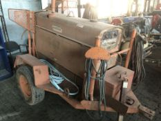 Lot Comprising of Unknown Make Trailer, Lincoln Shield-ARC SA-250 Welding Power Source Generator,