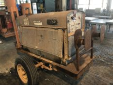 Lot Comprising of Unknown Make Trailer, w/ Lincoln Welding Power Source Generator (Location: