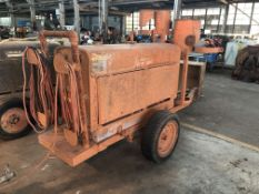 Lot Comprising of Unknown Make Trailer, w/ Lincoln Welding Power Source Generator, No Title (