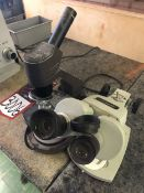 Lot Comprising of (1) ALLIED Fisher Scientific SPT-1H Binocular Head Microscope, and (1)
