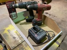 Lot Comprising MILWAUKEE and BLACK & DECKER 14.4V Drills and Univolt Charger (Location: Machine
