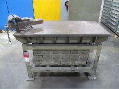 """24"""" x 48"""" Steel Table w/ 8"""" Bench Vise"""