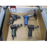 "(4) 3/8"" Non-Reversing Pneumatic Drills"