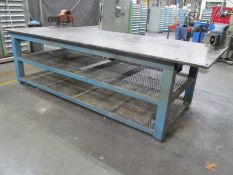 """48"""" x 120"""" Steel Table w/ 1"""" Thick Top (Vises Not Included)"""