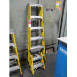 "(2) Keller Fiberglass Step Ladders, (1) 6', (1) 26"""
