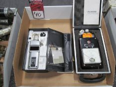 (2) Portable Tachometers, (1) Shimpo #DT-207B, (1) Pioneer #AB74