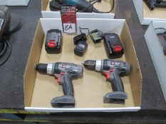 (2) Porter Cable #PC1801D Cordless Drills