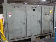 (2) 3-Door Electrical Cabinets Converted to Storage Cabinets
