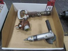 """(3) Pneumatic Tools, (1) 4"""" Angle Grinder, (1) Chicago Pneumatic CP-9 Chipping Hammer, (1) Palm"""