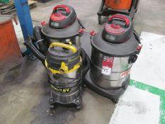(3) Wet/Dry Vacuums, (2) Shop-Vac #SS14-SQ550, (1) Stanley 5 Gallon