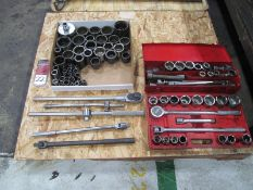 """Lot of Assorted 1"""" Drive Ratchets & Sockets"""